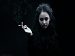 Smoke Girl Asian