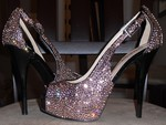 """Crystal Heels"" for your birthday, lovely Princess Gayatri :)"