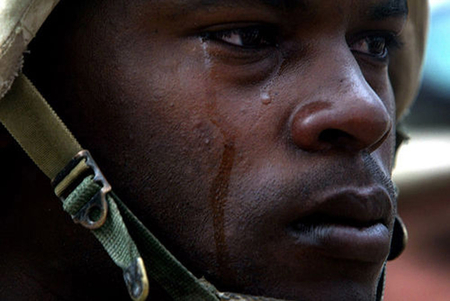 'Even with my gun and bomb, she cheated on me' Soldier laments
