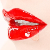 Red Wet Lips
