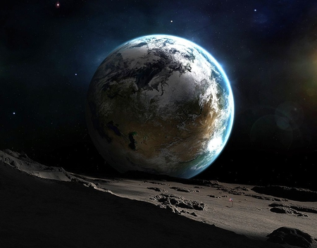 Earth from Moon - Planets & Space Background Wallpapers on