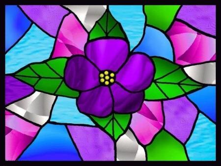 Flower Stain Glass Window