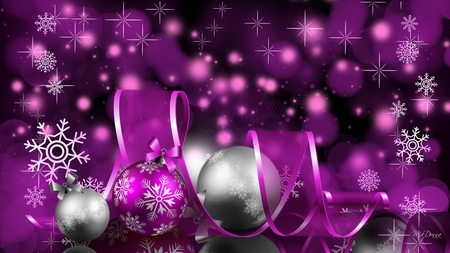 Christmas Purple.A Purple Christmas Delight 3d And Cg Abstract Background