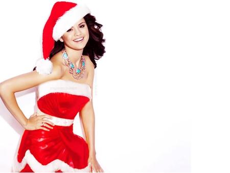 Christmas Model.Selena Gomez Merry Christmas Music Entertainment