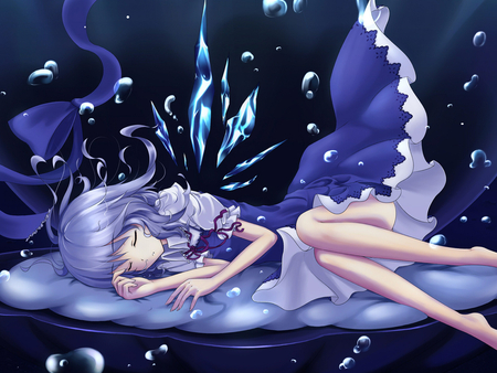 Magic dreams - sleep, blue, girl, dream, anime