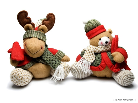 READY FOR WINTER - cute, moose, holiday, bear, winter