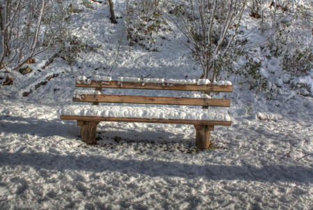 Winter corner - bench, trees, winter, cold, corner, snow, beauty, nature, white