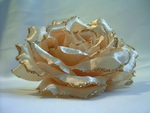Champagne fabric flower2