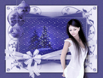 ❀ღ*•.��.•*❖❀ PURPLE LADY @ XMAS ❀ღ*•.��.•*❖❀