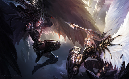 Dark Angel vs Knight Angel