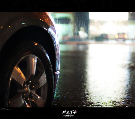 Rain - night shot, saudi arabia, dammam, cars and rain, the rain, car and rain, cars, car, rain, rain night