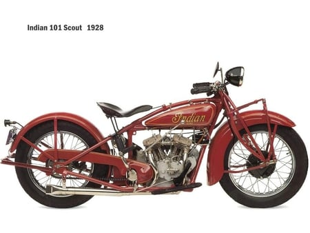 Indian bike - old, bike, classic, wallpaper, red, indian bike