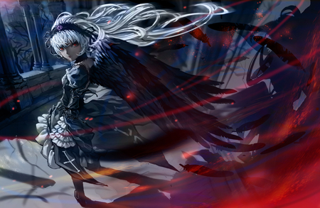 Rozen Maiden - wings, girl, anime, angel, rozen maiden