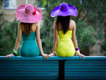 Hot Girls on a Bench