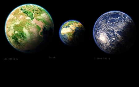 Planets out there - habitable, earth, exoplanet, space