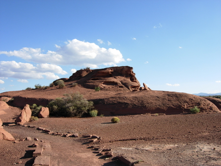 Wupatki  Preserve - rock formation, desert, outdoor scene, arizona, national park, blue sky, native american, southwest
