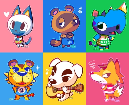 Animal crossing Villagers - games, cat, lion, cute, kawaii, animal crossing, fox, rhino, animals, dog