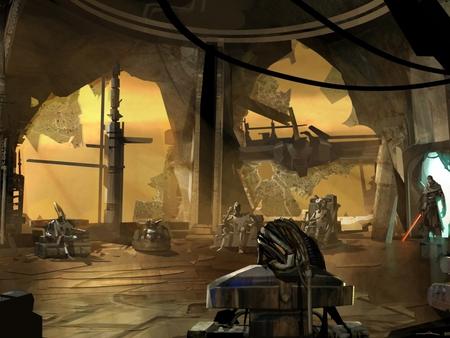 jedi temple in ruins - Jedis Garden