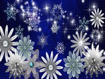 Shiny Flowers and Snowflakes