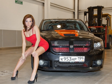 Dodge Babe Girls And Cars Amp Cars Background Wallpapers