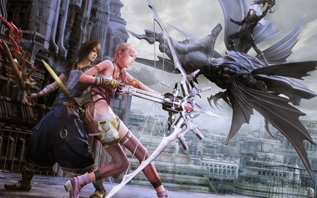 Lighting - pretty, cg, game, dragon, fantasy, anime, beauty, final fantasy, face, archer, sword, lovely, lighting, blonde, sexy, adventure, cute, teen, enemy, hd, action, eye, video game, bow, fighters, beautiful, digital art, arrow, hair, final fantasy xiii, final fantasy xiii - 2, hot, pink, final fantasy 13-2, final fantasy 13 - 2, female, warrior, girl, hero, tifa, final fantasy 13