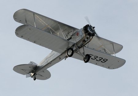 Boeing 40c - bi-plane, 40c, mail, 40, boeing, classic, plane, airplane, biplane, antique, silver