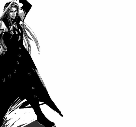 Sephiroth - ff7, final fantasy 7, white hair, video games, advent children, white background, trench coat, final fantasy series, anime, dissidia, final fantasy, crisis core, sephiroth