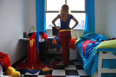 Supergirl's room - entertainment, funny, woman, people