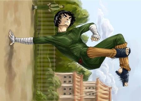 Rock Lee Training Naruto Anime Background Wallpapers On