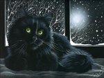 Irina Garmashova. Cat on the windowsill
