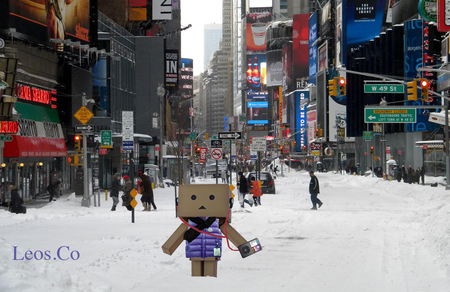 danbo in times square new years day beats tour nyc new york