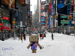 Danbo in Times Square, New Years Day