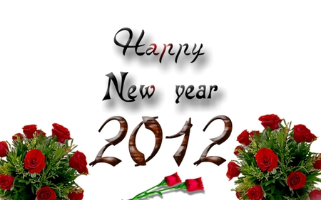 happy new year red rose romance red roses new year romantic 2012