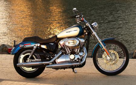 Lakeside Harley - motorcycle, lake, harley, bike, cycle, water, motor, davidson