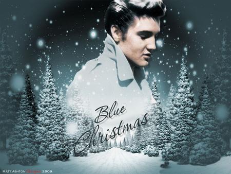 elvis blue elvis christmas blue xmas