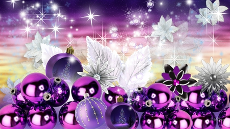 Purple christmas charm collages abstract background - Purple christmas desktop wallpaper ...