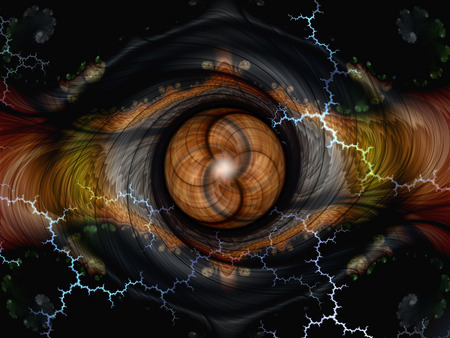 The Eye of Time - fractals, dark brown, eye