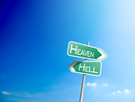 Heven or Hell Road Signs