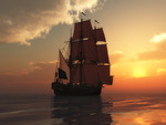 Ship and Sunset  !!!