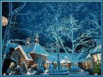 Blue village for Christmas