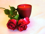 Candle and rose for Roxanna