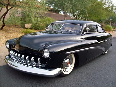 1951 Mercury Custom Coupe - cruiser, custom, mercury, chopped, lead sled, coupe, cool, antique, 51, car, 1951, classic