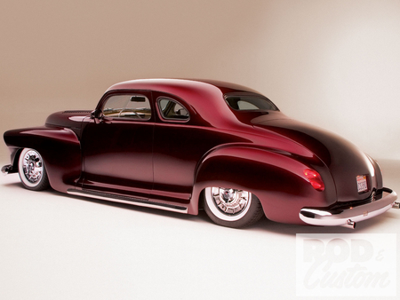 '48 Plymouth Business Coupe - plymouth, 48, 1948, custom, coupe, antique, hotrod, car, classic, street, business