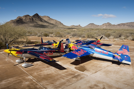 Redbull Aerobatics - aerobatics, redbull, airplane, stunt, bull, red, planes