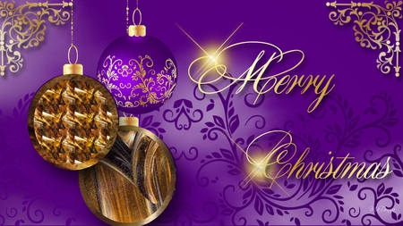 christmas purple and gold - Purple And Gold Christmas Decorations