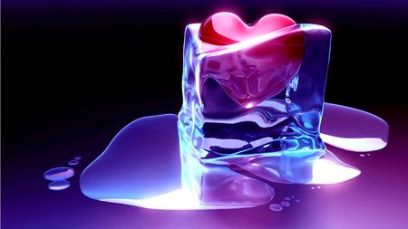 Frozen Heart - dead, abastarct, heart, beauty, frozen, beautiful, lovely, ice, melt, love