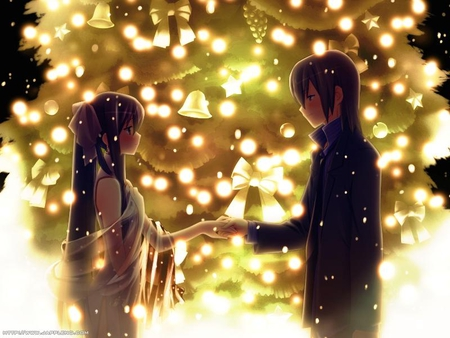 cute, couple, christmas,