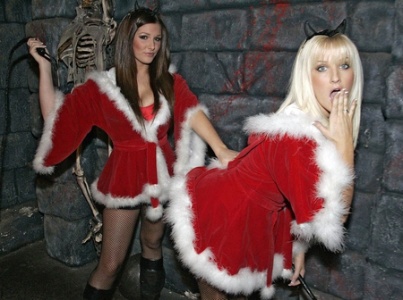 Christmas Babes.Lucy Michelle Christmas Models Female People