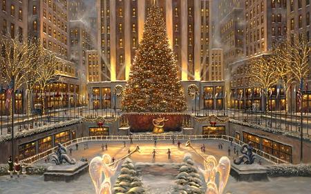Christmas Tree In Rockefeller Center