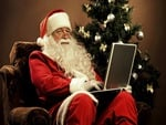 Santa Claus wit Laptop